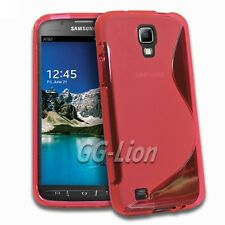 red.TPU Gel Silicone Case Cover Skin For Samsung Galaxy S4 Active SGH-I537 AT&T
