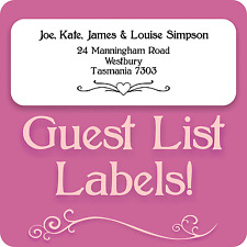 100 PERSONALISED WEDDING GUEST LIST LABELS INVITATIONS ADDRESS STICKY STICKERS