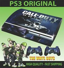 Playstation 3/PS3 COD Call of Duty Ghosts 001 Aufkleber Skin & 2 Pad Felle