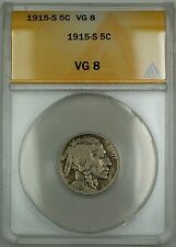 1915-S Buffalo Nickel 5c ANACS VG-8 (Better Coin)