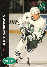 Lot of 64 Geoff Sanderson Whalers Coyotes hockey cards RCs, inserts + #d/100