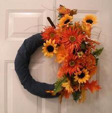 """Reduced""Seasonal Wreath Fall to Christmas Centerpiece - Floral Jean Arrangement"