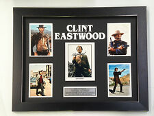 CLINT EASTWOOD PROFESSIONALLY FRAMED, SIGNED PHOTO COLLAGE WITH PLAQUE
