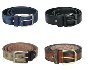 Alv by Alviero Martini Men's Belt Various Colours Suede Leather Made IN Italy