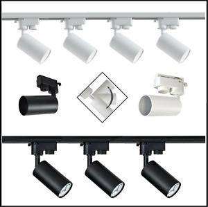 LED Schienensystem SET Spot Strahler Deckenleuchte Schienenleuchte 1-Phasen 230V