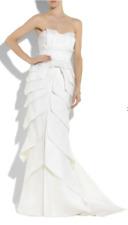 Designer Temperley Argent Petal Layered Wedding Dress Silk Bridal Gown UK 10