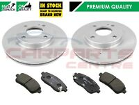 FOR FORD FIESTA MK7 2008- FRONT VENTED BRAKE DISCS AND PADS OE QUALITY 258mm
