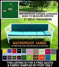 QUOTE & SAMPLES - MADE TO MEASURE GARDEN CHAIR BENCH PALLET FURNITURE CUSHIONS