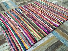 Fair Trade Second Nature Fringed Multi Coloured CHINDI Rag Rug Mat - Choose From