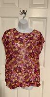 Ann Taylor Loft - Women's Blouse Short Sleeve Size L