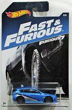 Hot Wheels 2017 Fast and Furious subaru WRX STI blue 1:64 #8 / 8