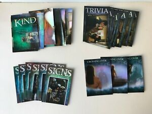 Ghost Whisperer 1 & 2 Chase Sets (4) Kindred Spirits Trivia Signs Crossing Over