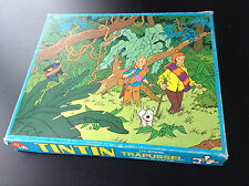 Rare Puzzle en bois Trapussel Tintin 1975 Complet TBE