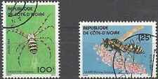 Timbres Insectes Arachnides Cote d'Ivoire 681/2 o lot 18544