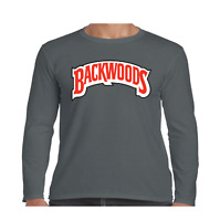 Backwoods Cigars Logo Long Sleeve T Shirt Graphic Hip Hop Funny Blunt Parody