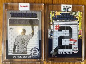 Topps Project 70 Derek Jeter 29 + Companion Card Jeff Staple Subway Series Rare!