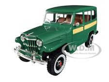 1955 WILLYS JEEP STATION WAGON GREEN 1/18 DIECAST MODEL CAR ROAD SIGNATURE 92858
