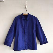 Vintage European Deadstock Cotton Chore Workwear Blue Worker Jacket M- L