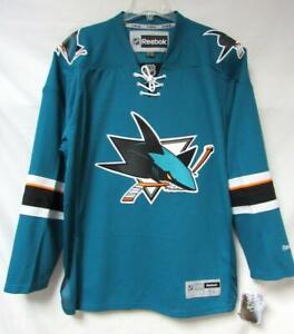 Reebok San Jose Sharks Mens Size XL 2XL or 3XL Premier Jersey A1 2743