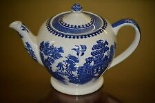 "Vintage Sadler Blue Willow Teapot 6"" Made in England"