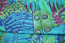 1/2 Yard Kaffe Fassett Feathers - GREEN - Cotton Quilting Fabrics