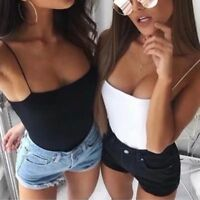 Été Femmes Sexy Débardeur Crop Top V Neck Sleeveless Gilet Off épaule Camisole