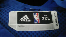 NEW ADIDAS BLUE NBA WARM UP JACKET ON COURT ZIPPER  BLANK AUTHENTIC SIZE 3XL +2