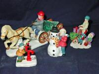 Lot (27) LEMAX VILLAGE & Other brands  - Christmas Figures, Animals, Snowman Set