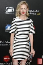 TOPSHOP SATIN STRIPE PARTY DRESS SIZE UK6/EUR34/US2 CELEBRITY