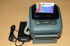 Zebra ZP 450 Label Thermal Bar Code Printer Ethernet & Power Supply USB Cable