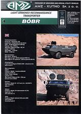AMZ Bobr Beaver catalogue brochure military light armored  transporter