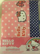 """*NEU* Bettwäsche HELLO KITTY """"Dots"""" rosa/blau 135 x 200 cm Sanrio"""