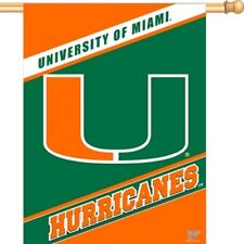 NCAA Miami Hurricanes Vertical Flag