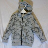 Baby Boys River Island Grey Camo Zipped Hooded Hoodie Jacket Age 18-24 Months