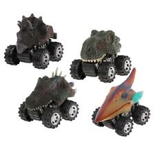 4x Pull Back And Go Car Toy Play Set Dinosaur Car Toy For Kids Toddlers Boys