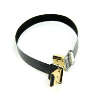 FPV Dual Up Angled 90 Degree HDMI Type A Male to Male HDTV FPC Flat Cable