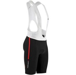 Louis Garneau Course Race Men's Cycling Bib Shorts - Black/Red - Size XL