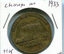 1933 Chicago Century of Progress HK 474 So Called Dollar Luck Medal Token Coin