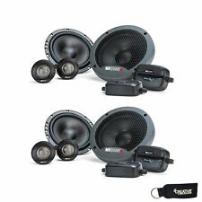 MB Quart Two Pairs Of Formula 6.5 Inch 2 way Component Car Speakers FSB216