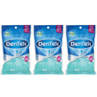 3 Pack - DenTek Complete Clean Mouthwash Blast Angled Floss Picks 75 Each