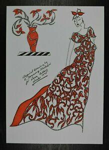 Roz Jennings Fashion Drawing Original Art Work Illustrator Laura Ashley 70s (K2