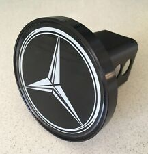 Mercedes Custom Made Hitch Cover - Black Anodized Aluminum