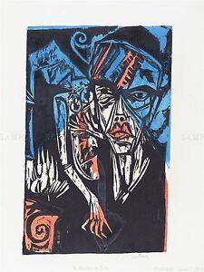 ERNST LUDWIG KIRCHNER GERMAN QUALEN DER LIEBE OLD ART PAINTING POSTER BB5283A