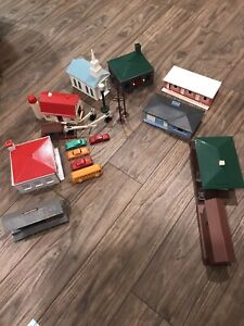 plasticville o scale lot 10 Buildings And Accessories