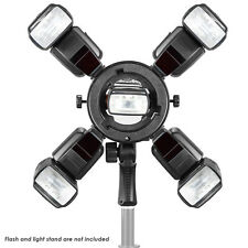 Neewer Bowen Mount Outdoor Flash Bracket with 4 Cold Shoe Mount Adapter
