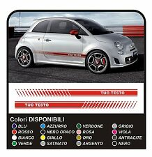 Adesivi per FIAT 500 ABARTH fasce FIAT 500 stradale KIT strisce laterali fascia