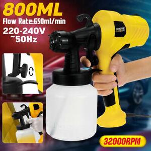 Handheld Electric Spray Gun High Power Home Painting Tool Latex Paint Sprayer UK