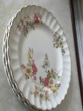 WARRANTED 22K GOLD 3 USA VTG LIMOGES PORCELAIN DESSERT PLATES BRAMBLE 3-K G.F.E.