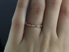 Anillos de joyería con diamantes aniversario de oro rosa, diamante