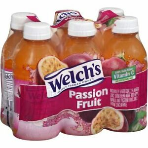 Welch's Passion Fruit Juice Drink 6 - 10 oz Bottles